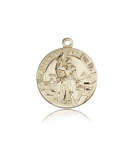 14k yellow gold st joan of arc medal pendant 0193kt rosarycard free shipping aloadofball Gallery