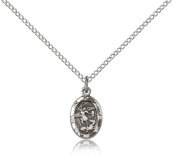 Sterling Silver St Michael Archangel Medal 0301rss 18ss Rosarycard Net