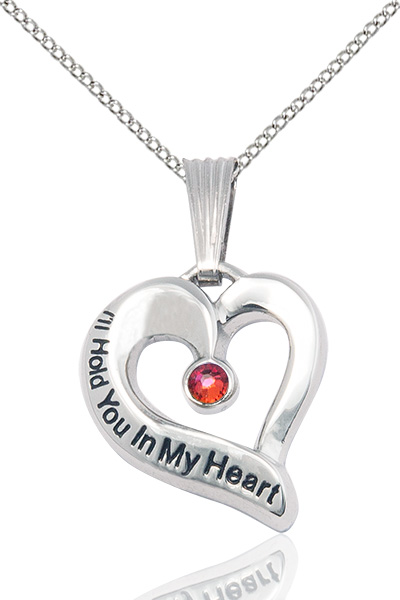 Sterling silver heart pendant necklace with garnet birthstone sterling silver heart pendant necklace with garnet birthstone swarovski crystal ihy6041gtss18s rosarycard aloadofball Gallery