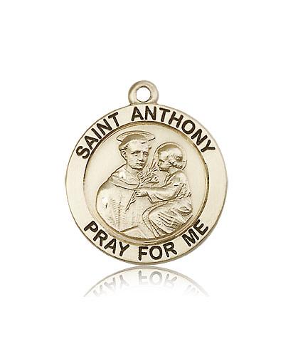 14k yellow gold st anthony medal pendant 4076kt rosarycard free shipping aloadofball Choice Image