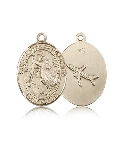 Joseph Of Cupertino Medal 14kt Gold St