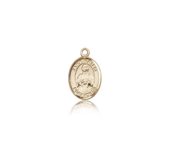 Patron Saint Environment 1//2 x 1//4 Kateri Medal 14kt Gold St