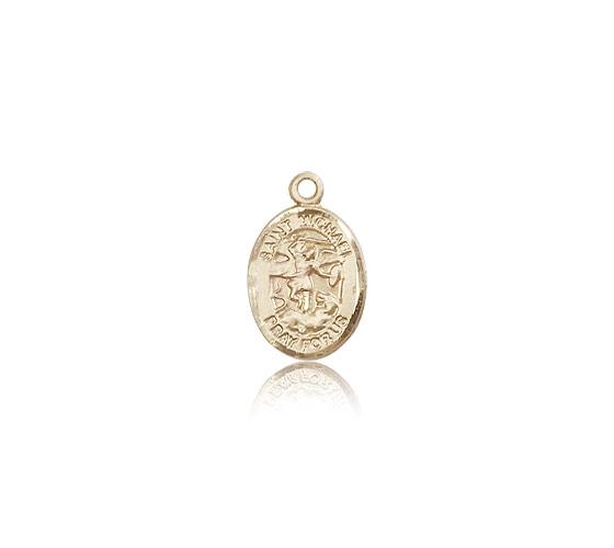 14k Gold St Michael Archangel Medal Pendant 9076kt Bliss
