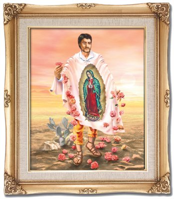 SAINT JUAN DIEGO  16 x 20 FRAMED ART UNDER GLASS