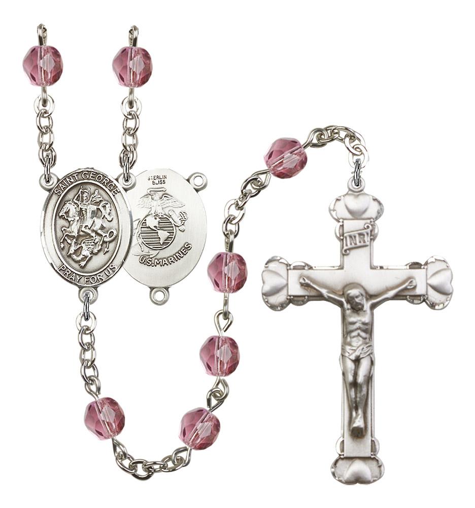 Saint George Catholic Rosary Beads