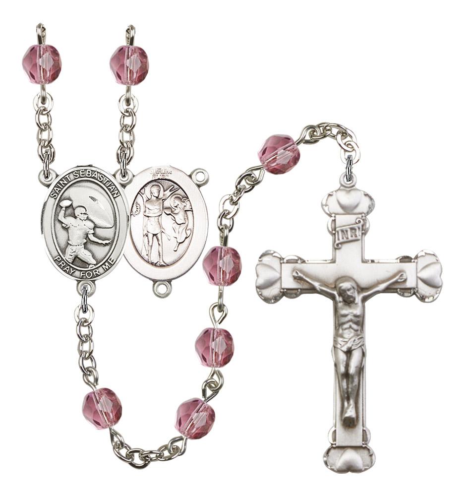 Saint Sebastian Catholic Rosary Beads Patron Saint of Sports Football