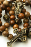 Wooden Rosary Beads Miraculous Medal For Men & Women
