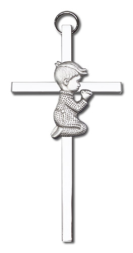Praying Boy Wall Cross 4410SS