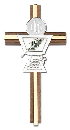 Communion Chalice Wall Cross 5035GG