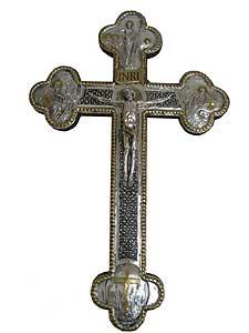 Large Wall Silver Crucifix