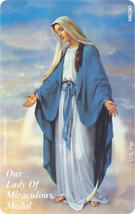 Our Lady of Miraculous Medal - Rosary Card RCNE10052