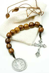 11750-1 Dark Wood St Benedict Pocket Rosary