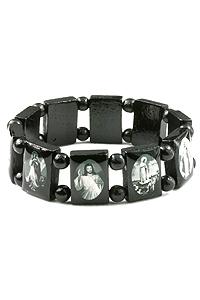 Size Religious Bracelet In Black