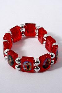 Red Acrylic Saints Bracelet BRA94A